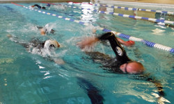 Open water skills at Brecon pool