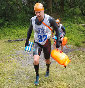 Running at the Slateman Triathlon