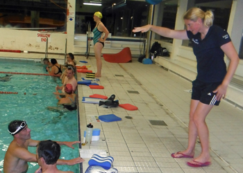 Coached swimming at Brecon